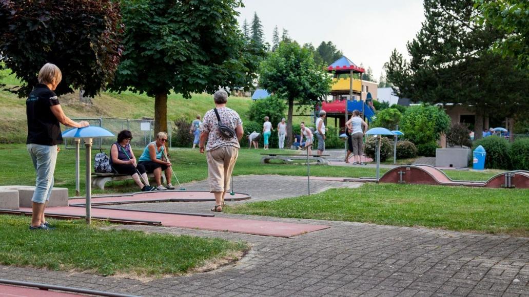 Minigolf im Freizeitzentrum Schlossfeld AG in Willisau