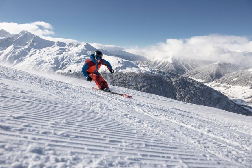 Skifahren am Rinerhorn bei Davos