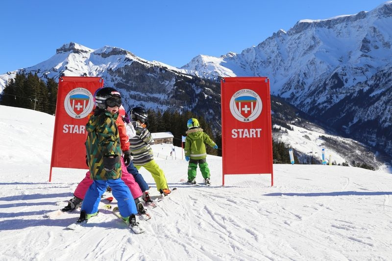 Skifahren in Elm im Glarnerland