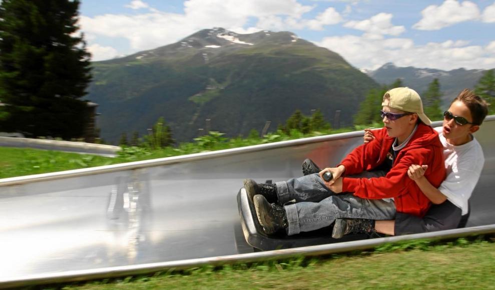Sommer-Schlittelbahn Schatzalp / Davos