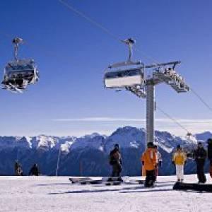 Skigebiet auf Motta Naluns